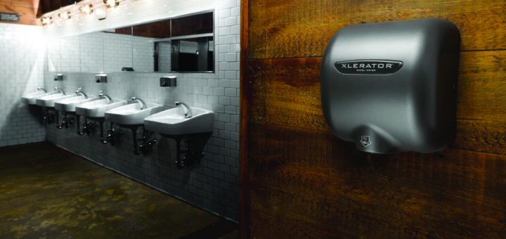 Hygienic Hand Dryer Installation in Restroom