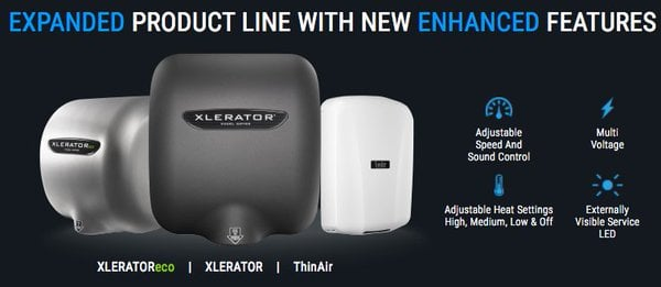 Hand Dryer Features Expanded and Enhanced